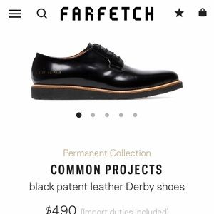 Common projects black DERBY size 43. GUC